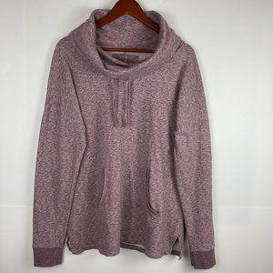 Sonoma Purple Speckled Cowl Neck Pullover Size L